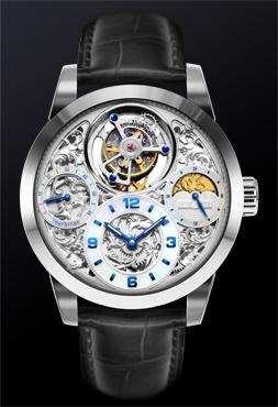 Starlit Legend Series – Imperial Tourbillon Watch (Silver) - 4894379111087