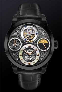 Starlit Legend Series – Imperial Tourbillon Watch (Black) - 4894379111186